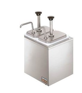 DISPENSADORA DE SALSAS 2B INOX